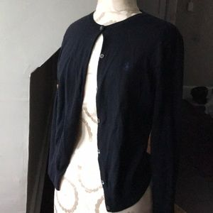 Polo Sport dark navy cardigan - Merino Wool